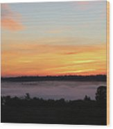 Sunrise Amongst The Clouds Wood Print
