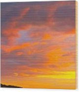 Sunrise And Clouds Over Pigeon Cove Wood Print