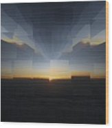 Sunrise At 30k  8 Wood Print