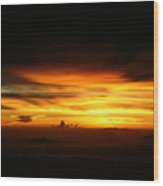 Sunrise At 38k Over El Salvador Wood Print