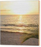 Sunrise At Akumal Sur 1 Wood Print