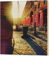 Sunrise At Albert Dock Wood Print