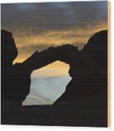 Sunrise At Arch Rock Wood Print
