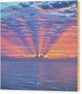Sunrise At Atlantic Beach Wood Print