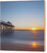 Sunrise At Belmar New Jersey Wood Print