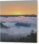 Sunrise At Broken Bow Lake Wood Print