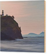Sunrise At Cape Disappointment Wood Print