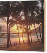 Sunrise At Catseye Beach Wood Print