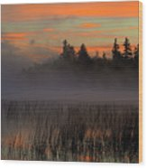 Sunrise At Connery Pond 1 Wood Print