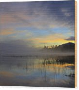 Sunrise At Connery Pond 3 Wood Print