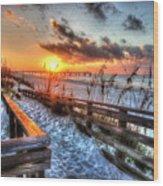 Sunrise At Cotton Bayou  Wood Print