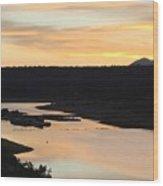 Sunrise At Crawley Lake Wood Print