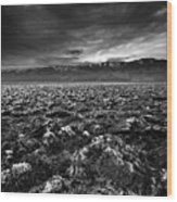 Sunrise At Devil's Golf Course, Death Valley, Deat Wood Print by David Kiene