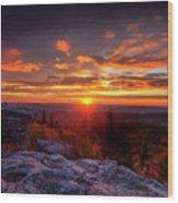 Sunrise At Dolly Sods At Bear Rocks Wood Print