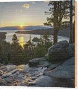 Sunrise At Emerald Bay In Lake Tahoe Wood Print