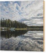 Sunrise At Fish Lake Wood Print