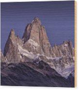 Sunrise At Fitz Roy Patagonia 8 Wood Print