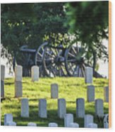 Sunrise At Gettysburg National Cemetery Wood Print