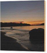 Sunrise At Ingonish Wood Print