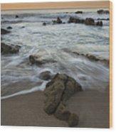 Sunrise At Laguna Beach Wood Print