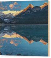 Sunrise At Lake Louise, Banff National Park, Alberta, Canada Wood Print