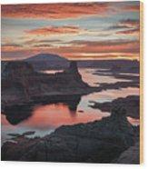 Sunrise At Lake Powell Wood Print