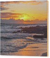 Sunrise At Makapu'u Wood Print