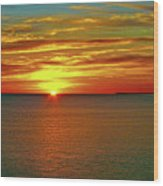 Sunrise At Matane Wood Print