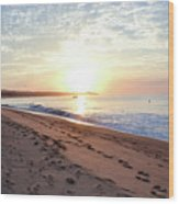 Sunrise At Medano Wood Print
