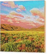 Sunrise At Montana De Oro Wood Print