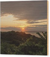 Sunrise At Montauk Point State Park Wood Print