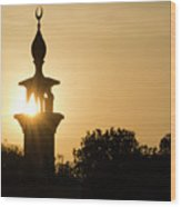 Sunrise At Mosque Of Tadjourah In Djibouti East Africa Wood Print