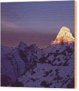 Sunrise At Mt. Ama Dablam Wood Print