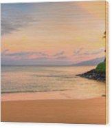 Sunrise At Napili  Wood Print