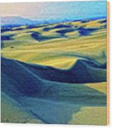 Sunrise At Oceano Sand Dunes  Wood Print