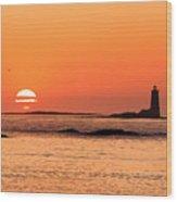 Sunrise At Odiorne Point 1 Wood Print