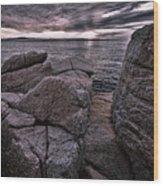 Sunrise At Otter Cliffs #5 Wood Print