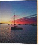 Sunrise At Provincetown Pier 1 Wood Print