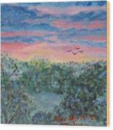 Sunrise At Quialigo Wood Print