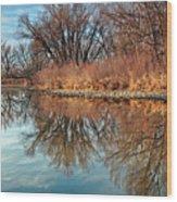 Sunrise At River Bend Ponds Wood Print