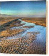 Sunrise At Rockaway Beach Oregon Wood Print