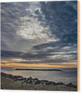 Sunrise At Rudee Inlet Wood Print
