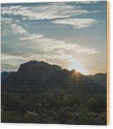 Sunrise At Sabino Canyon Wood Print