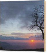Sunrise At Saddle Overlook Wood Print