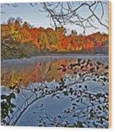 Sunrise At Schooleys Mountain Wood Print