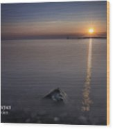 Sunrise At Sodus Point Wood Print