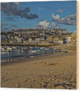 Sunrise At St Ives Wood Print