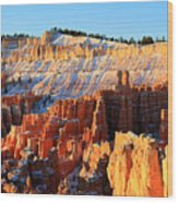 Sunrise At Sunset Point In Bryce Canyon Wood Print