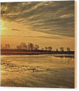 Sunrise At The Big Marsh Wood Print