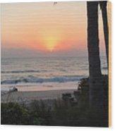 Sunrise At The Pipe Wood Print